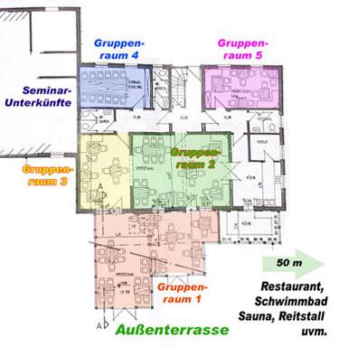 Seminarhaus Bildungszentrum Gruppenhaus zu verpachten Resthof Hofstelle