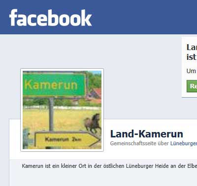 Land Kamerun bei Facebook