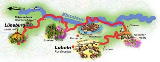 Radreisen Elbe Lüneburger Heide Wendland