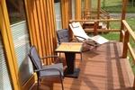 Veranda der Kamerun Komfort-Lodge für 2 Personen in Land Kamerun