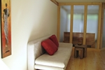 Wohnbereich der Kamerun Komfort-Lodge für 2 Personen in Land Kamerun