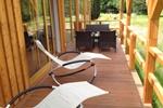 Veranda der Kamerun Komfort-Lodge für 4 Personen in Land Kamerun